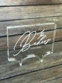 Modern Acrylic Cake Topper/Personalized Cake Topper/ Engraved Cake Topper Clear Acrylic