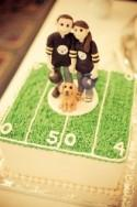 Custom Bride and Groom Football Fans Wedding Cake Topper,Wedding Cake Topper, Custom Cake Topper, Personalized, Wedding/Anniversary Keepsake