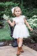 The Original Charlotte - Ivory, Lace, Chiffon Flower Girl Dress, made for girls, toddlers, ages 1T, 2T,3T,4T, 5T, 6, 7, 8, 9/10, 11/12,13/14