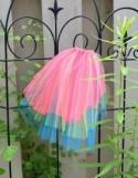 Bright Neon Veil Bachelorette Offbeat Wedding - hot pink red / lime green / blue -Hen Stagette Party rainbow