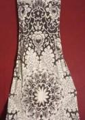 Dress  lace white mermaid maxidress handcrafted size 38 hand made