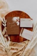Boho wedding invitation template, terracotta wedding invites set, pampas grass wedding invitations, desert, dried palm burnt orange #135-5