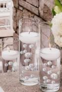 Floating White Pearls - No Hole Jumbo/Assorted Sizes Vase Decorations