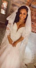 Bridal veil, chapel veil, cathedral veil, floor length veil, waltz veil, simple veil, elegant veil, classic veil, plain veil TS 716
