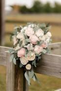 Sola Wood Flower Custom Cascading Boho Greenery Bridal Bouquet