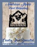 Rock Climbing Couple - Personalized Wedding Cake Topper - First Names - Last Name - Event Date - Mountain Wedding - Adventure Awaits