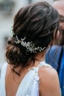 Wedding hair piece Babys breath hair pin Gypsophila hair comb Bridesmaid hair accessories Fall wedding valentine's day for her