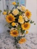 Cascading sunflower bouquet
