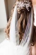 "Wedding Hair Accessory, Boho bridal pearl crystal  Hair Vine Comb Bridal Hair Accessory, ""Emmaline"""