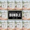 Wedding Signs Bundle, 25 SIGNS BUNDLE, Wedding Table Signs, Wedding Decor, Signature Cocktail Sign, Covid Wedding, Cards and Gifts Sign, BL1