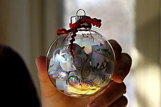 wedding invite christmas ornament