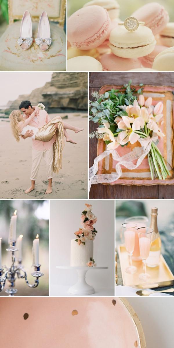 Hochzeit - Blush and Gold Wedding Inspiration from Burnett's Boards
