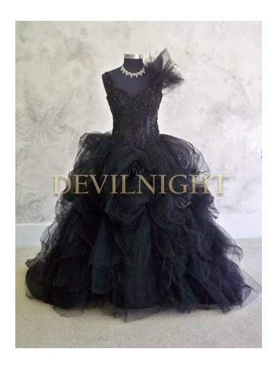 Свадьба - Black Ball Gowns Gothic Wedding Dress