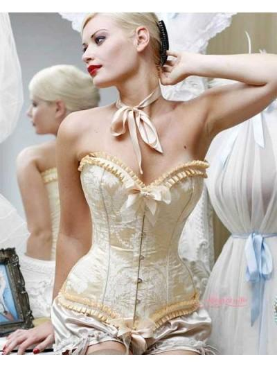 Wedding - Victorian Burlesque Waist Training Overbust Corset