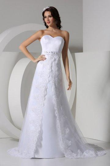 Wedding - Sweetheart Beaded High Waist Vintage Wedding Dress