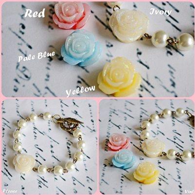 Mariage - You choose colors - Flower Bracelet