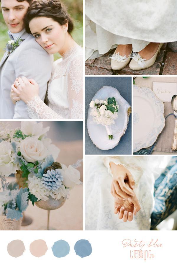 Свадьба - Inspiration Board: Dusty Blue - Belle & Chic