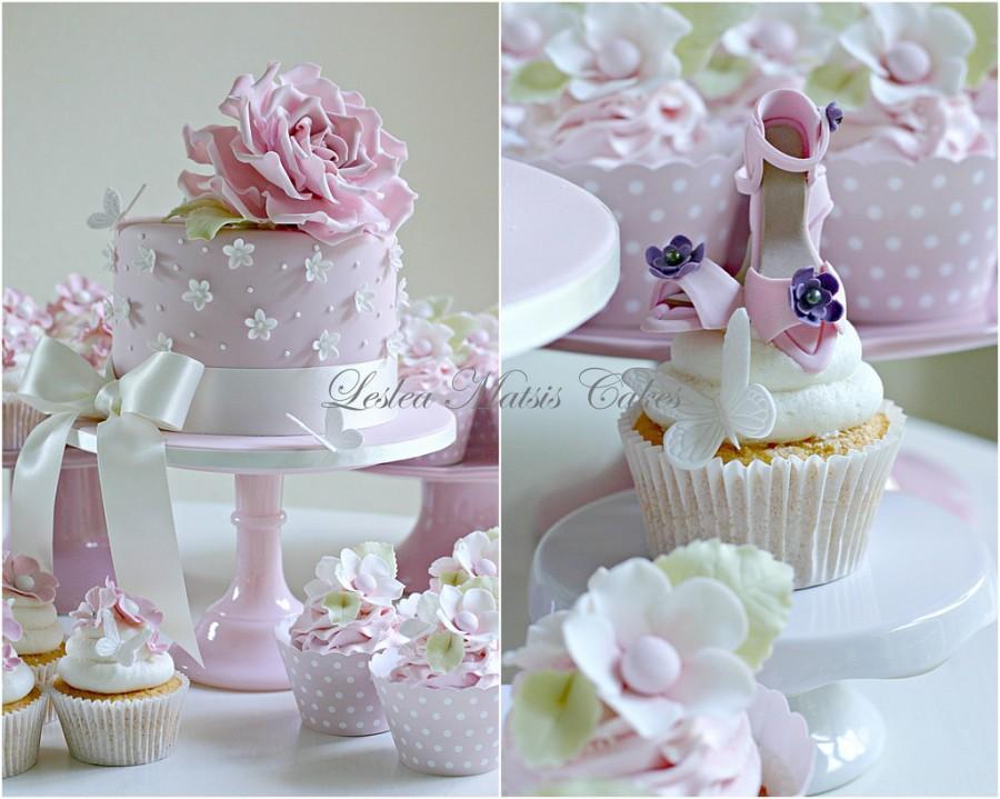 Wedding - Pink birthday cake