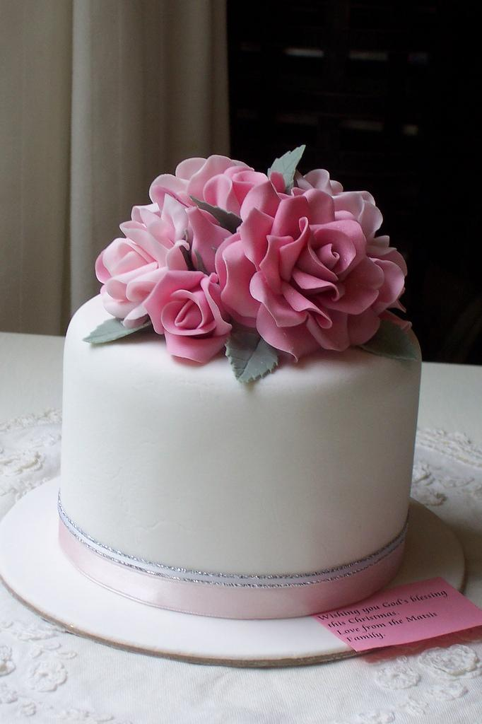 Wedding Cakes - Mixed Pink Roses Cake #1930338 - Weddbook