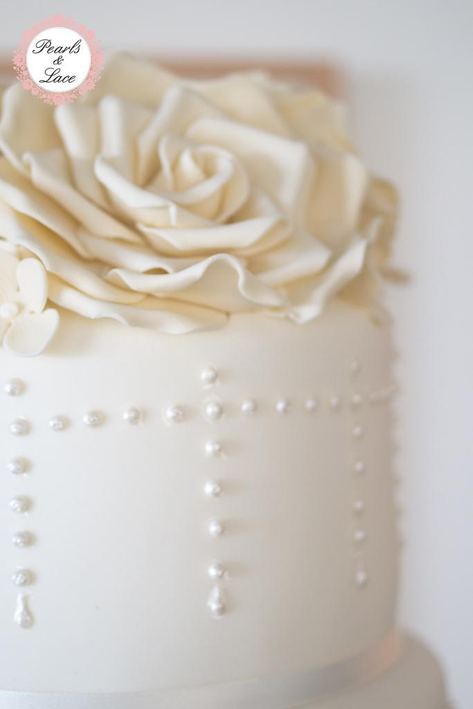 زفاف - Pearl wedding cake 3-0678