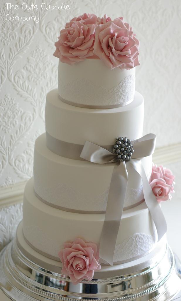 Wedding Cakes Pink And Dove Grey Wedding Cake 1930520