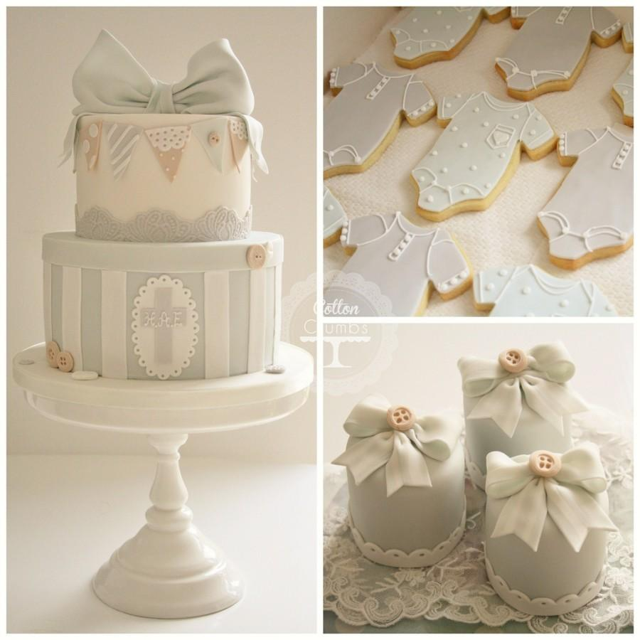 Christening Cake, Iced Biscuits And Mini Cakes #1930640 - Weddbook