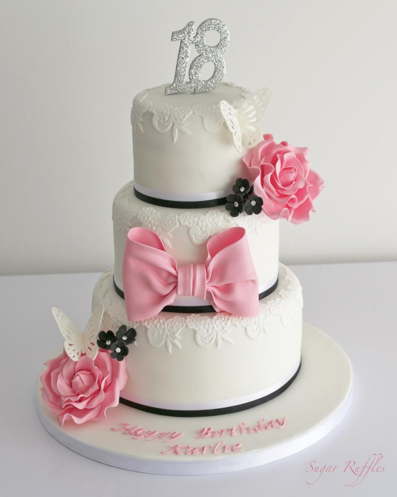 Wedding cakes 18th birthday cake 1930705 weddbook for 18th cake decoration