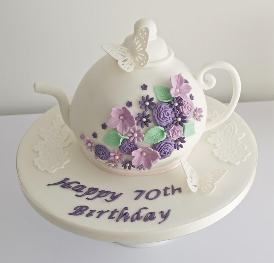 Wedding Cakes Teapot 70th Birthday Cake 1930709 Weddbook
