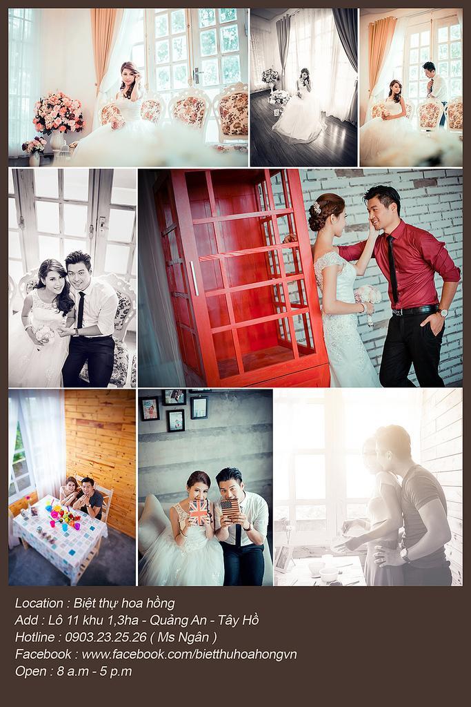 Свадьба - Ảnh cưới Hà Nội - Biệt thự hoa hồng