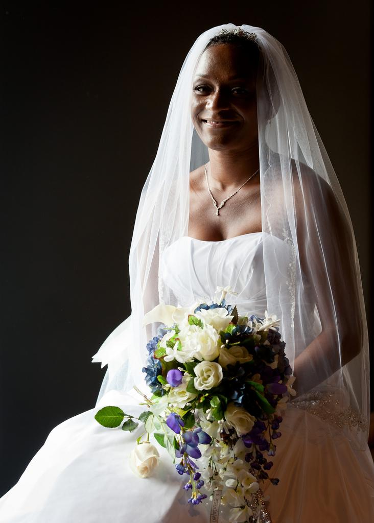 Wedding - Bride by Window Light