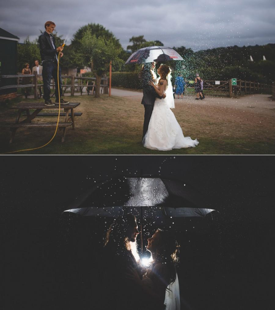 Mariage - Rainy Bride before & After