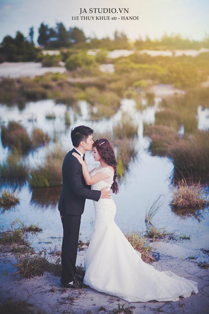 Wedding - Ảnh cưới biển Minh Châu - Quan Lạn ( JA Studio - 11E Thụy Khuê )
