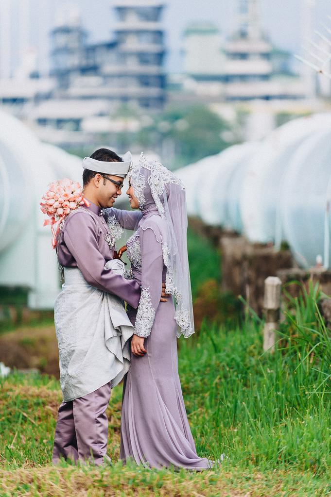 Свадьба - Malay Bride & Groom - A Portrait