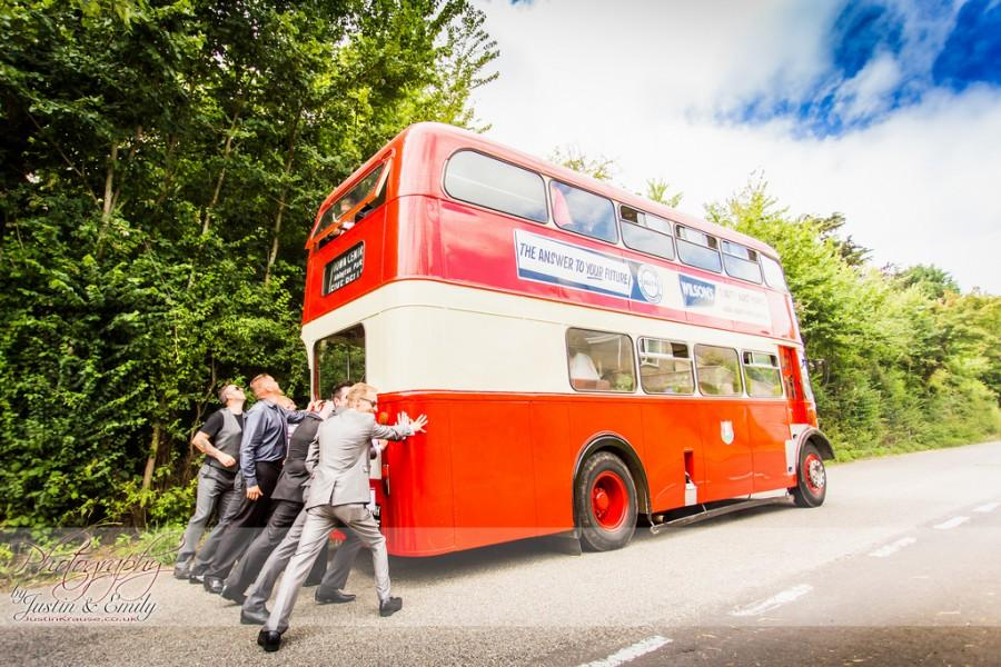 Wedding - Amelia & Paul's Vintage Double Decker Bus
