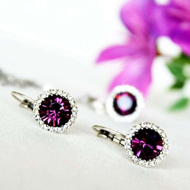 Nozze - Bridal & Bridesmaids Purple Jewelry Set
