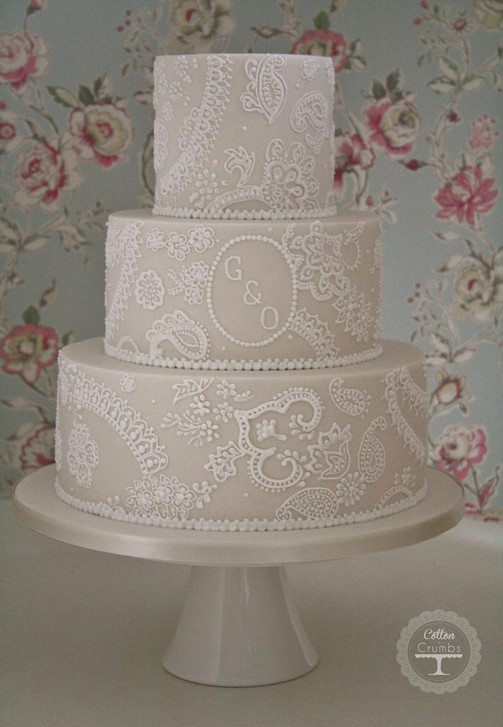 Wedding Cakes - Paisley Lace Wedding Cake #1972155 - Weddbook