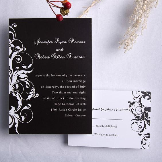 cheap wedding invitations cheap black and white wedding invitations