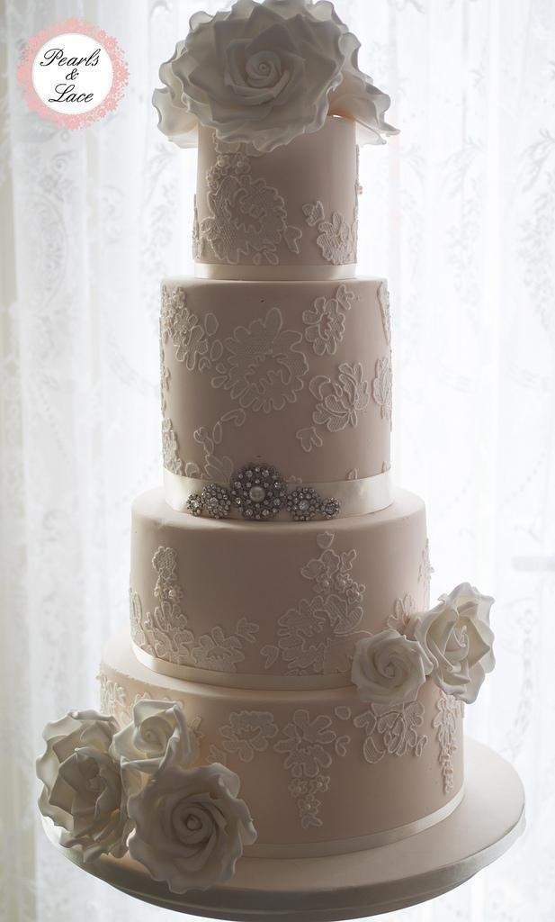 Vintage Wedding Vintage Lace Wedding Cake 1978068 Weddbook