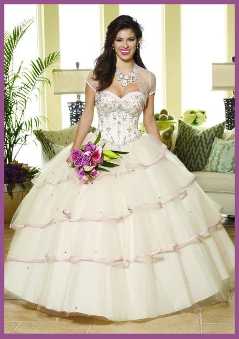 95021bb7d5bd9 Champagne Beaded Satin And Tulle Quinceanera Dress #1981472 - Weddbook