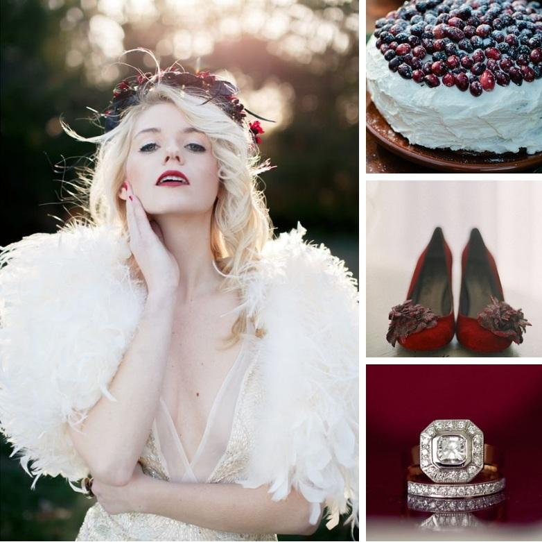 Wedding - Frosted Cranberry – Cranberry, Gold & Winter White Wedding Inspiration