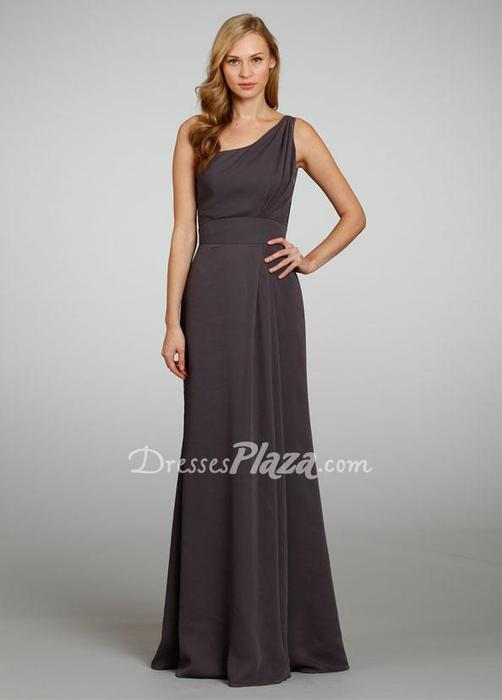 زفاف - Dark Grey Chiffon Bridesmaid Dress