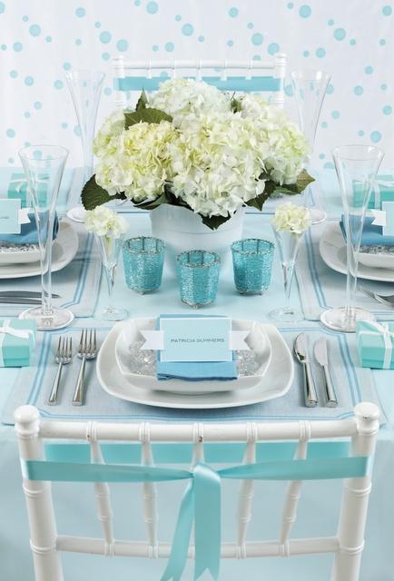 Hochzeit - Tiffany Blue Showers & Weddings