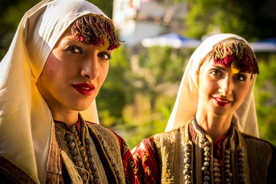 Wedding - Macedonian Girls in Traditional clothing