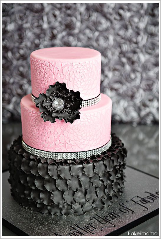 Wedding - Pink And Black Wedding