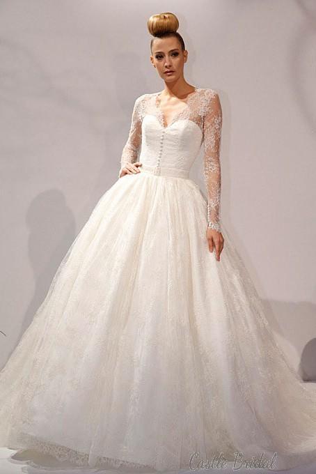 Wedding Dresses - Ball Gown Lace Wedding Dress, #1999671 - Weddbook
