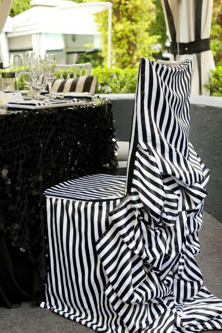 Mariage - Black & White Stripes