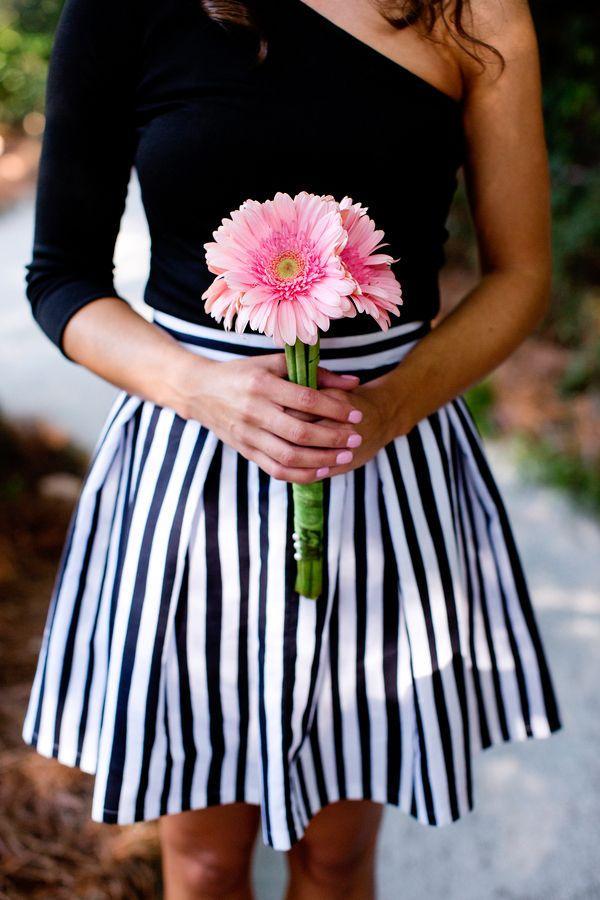 Mariage - Black & White Stripes