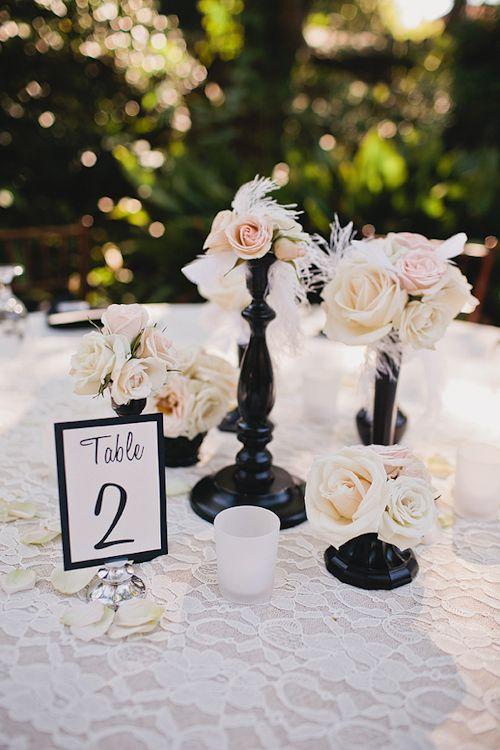 Schwarze Hochzeits Black And White Wedding Details Decor
