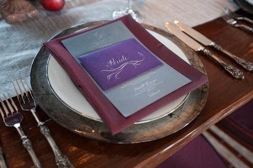 Hochzeit - Purple Wedding Details & Decor