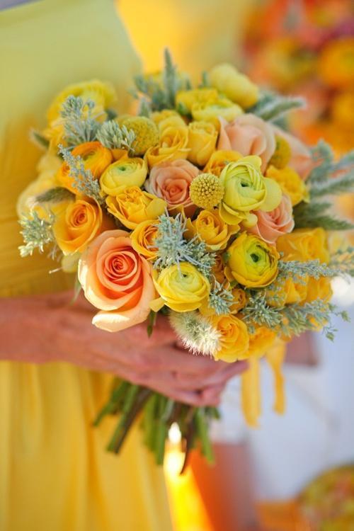 Hochzeit - Yellow Wedding Details & Decor